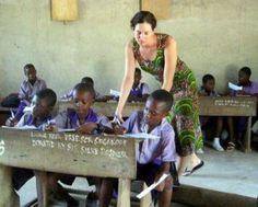 Lilie Marshall teaching in Ghana (https://plus.google.com/+LillieMarshall/posts)