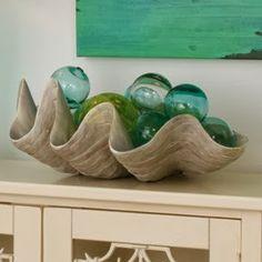 Everything Coastal....: A Sea Shell Display for the Holidays - 20 Days of Coastal Holiday Ideas