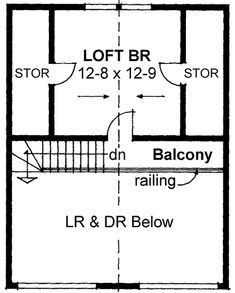 Space and Stature; loft floorplan