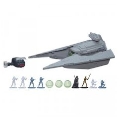 """The Star Wars Command: Star Destroyer Set is an R/C vehicle that is controlled with a remote and """"the Force"""" hand movements."""