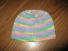 Free Knook Hat Crown Down pattern