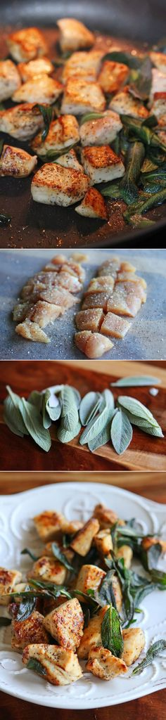 5-Minute Brown Butter Chicken and Crispy Sage. Great for quick dinners. | via @Amanda (Kevin and Amanda)