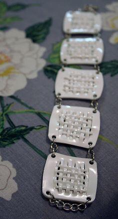 Woven shrink plastic bracelet tutorial.
