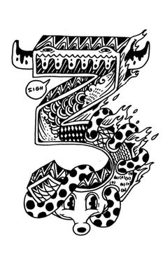 Numbers for Con Artist by Anjo Bolarda, via Behance