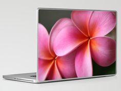 Pua Lei Aloha Cherished Blossom Pink Tropical Plumeria Hina Ma Lai Lena O Hawaii    by Sharon Mau  Laptop & iPad Skin    $30.00
