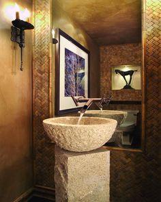 Very cool, unique vanity/sink