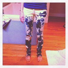 DIY bleach dip jeans.