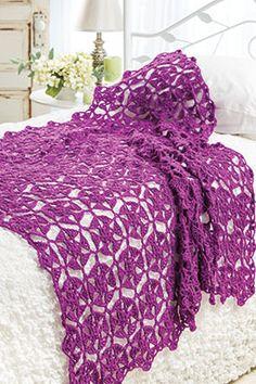 Freesia Throw #crochet