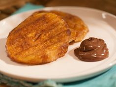 Grilled Doughnuts with Melted Chocolate-Hazelnut Sauce Recipe : Katie Lee : Food Network - FoodNetwork.com