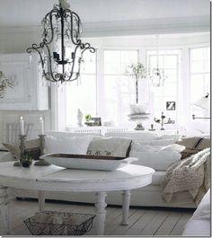 I love all white living rooms :D