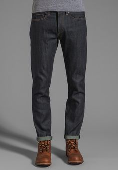 LEVI'S: Made & Crafted Tack Slim Jeans in Indigo Rigid