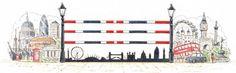 "Course designer Bob Ellis' ""London Montage"" jump | Illustration Christine Bousfield"