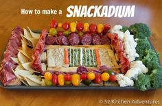 How to Make a Healthier Snackadium | 52kitchenadventures.com super bowl foods, superbowl, football foods, snack, 52 kitchen, parti