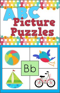 ABC Picture Puzzles - Letters and Initial Letter Sounds