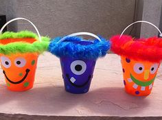 Monster bucket party favors