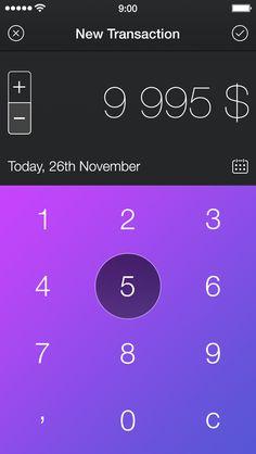 Walle Finance App [New Transaction Screen] - by Alexander Zaytsev   #ui