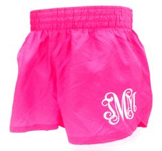Nylon Lowrise Shorts with Monogram! LOVE these Monogrammed Trash Bag Shorts! - $20 athelt short, bridesmaid gifts, monogram short, athlet short, running shorts