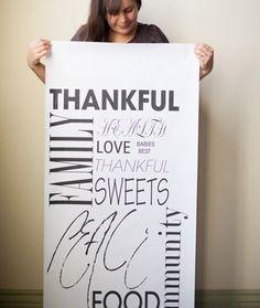 DIY thanksgiving printed table runner