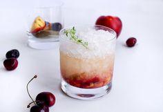 Grilled Summer Fruit Cachaça Smash #Cocktail // stirandstrain.com