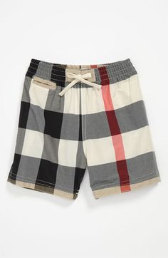 Burberry 'Nova Check' Swim Trunks (Infant) | Nordstrom