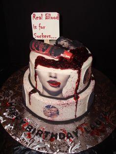 True Blood cake idea...mmm mmm