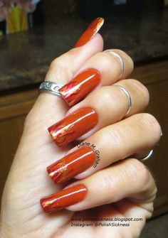 Square Hue Scorched Summer, Kleancolor Metallic Red, Orange and Yellow