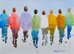 artists, people watercolor, watercolor paintings, watercolor people, swings, album inspir, art inspo, paint insper, figur