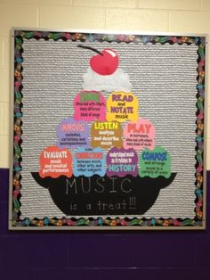 Music with Mrs. Dennis: Ice Cream Bulletin Board  FREE DOWNLOAD  Each scoop features one of the National Standards for Music Education in kid-friendly terms