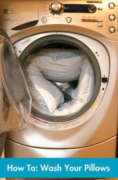Washing your pillows helps with allergies and keeps the place you lay your head at night clean!