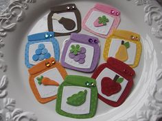 Handmade paper baby food jars