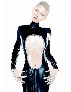 Danny Deluxe long latex dress with glitter contur! Published in Zink Magazine- New York. Photos: David Benoliel. #rubber #dannydeluxecouture #dannydeluxe #latex #zinkmagazine