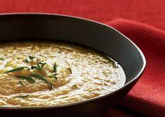 Creamy Cauliflower Soup with Apple and Tarragon