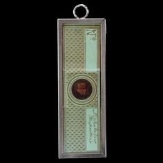 antique microscope slide