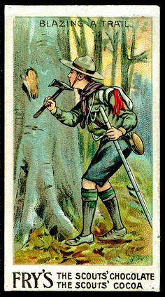 Tradecard - Boy Scout blazing a trail by cigcardpix, via Flickr