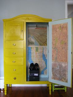 I love this Armoire for a childrens room...
