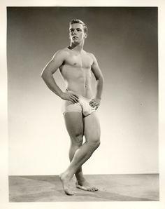 Vintage beefcake model by Athletic Model Guild