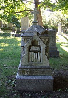 A booklover rests in Mt. Auburn Cemetery in Cambridge, Massachusetts  #monument #headstone #gravestone #tombstone