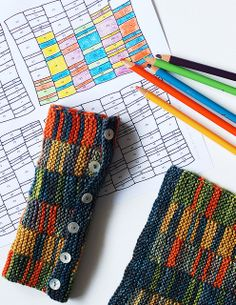 Color by Number Stripy Mitts by -leethal-, via Flickr