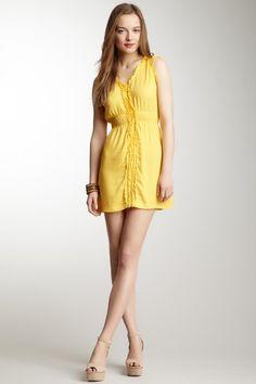 Sleeveless Ruffle Trim Dress by Angie on @HauteLook
