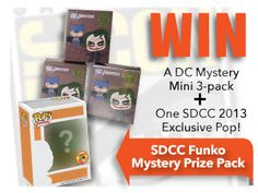 win #SDCC Funko prize pack from NerdFu