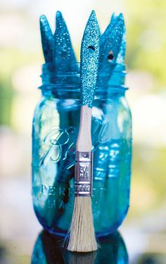 DIY Glitter Paintbrushes & Horse themed party (great idea for the year of the horse)