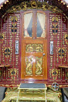 Detailed and ornate vardo exterior