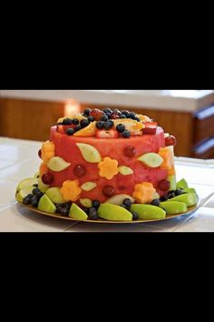 birthday fruit, fruit cakes, watermelon, summer cakes, birthday cakes