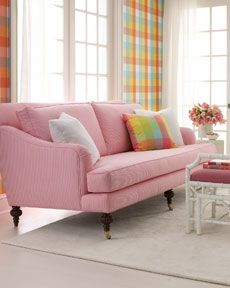 Pink Lilly Pulitzer sofa...love!
