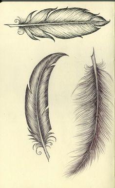 Feather, #tattoo design #tattoo #tattoo patterns| http://awesome-tattoo-pics.micro-cash.org Tattoo Ideas, Tattoo Pattern, Feather Sketch, Tattoos Feather, Tattoo Feathers, A Tattoo, Pencil Drawings, Feather Tattoos, Freedom Tattoos
