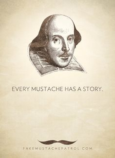 Purchase a limited edition print over at FMP's #Mustache Store. #shakespeare