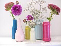 DIY Painted Jars