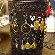 Out of the box Jewelry Holder....Use the Parisian Luminary from Willow House!