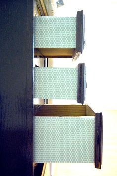 DIY | Trick Out Your Drawers with Scrapbook Paper