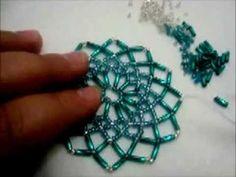 tuto détaillée du napperon en perles Tuto detailed beaded placemat - YouTube